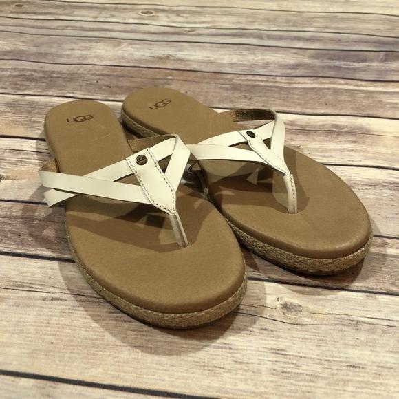 55b72e8bb89 Ugg Annice Flip-Flop Sandals White Size 7
